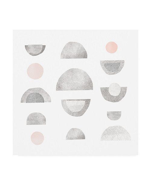 "Trademark Global Emma Scarvey Half Circles II Canvas Art - 15.5"" x 21"""