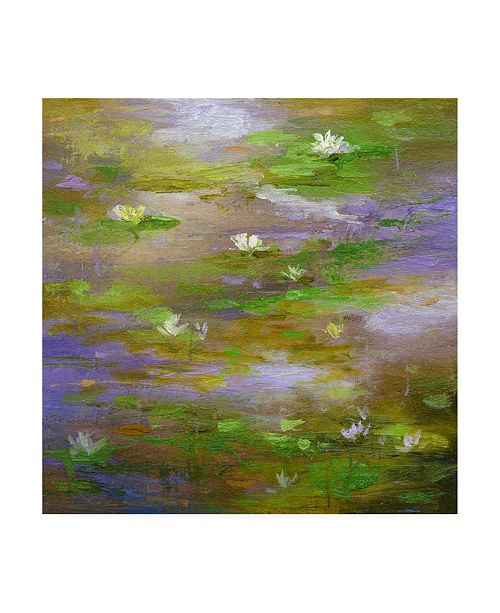"Trademark Global Sheila Finch Water Lily Pond 3 Canvas Art - 36.5"" x 48"""