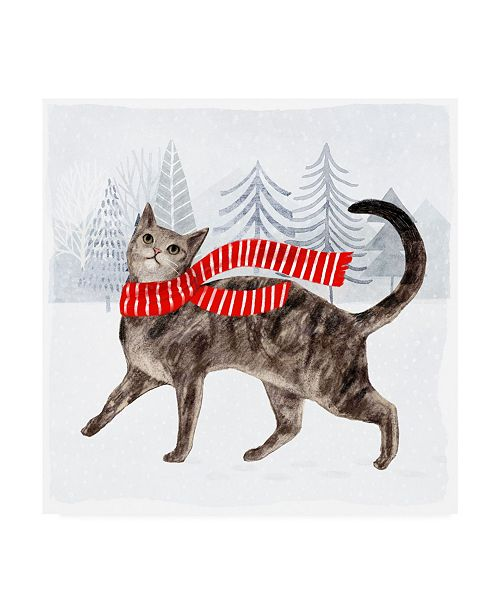 """Trademark Global Victoria Borges Christmas Cats and Dogs I Canvas Art - 15.5"""" x 21"""""""