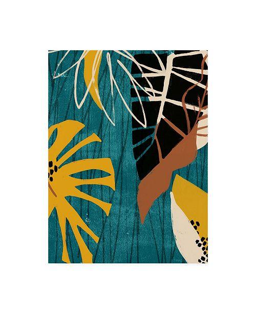 "Trademark Global June Erica Vess Graphic Blue Lagoon II Canvas Art - 19.5"" x 26"""