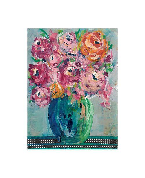 "Trademark Global Regina Moore Feisty Floral II Canvas Art - 36.5"" x 48"""