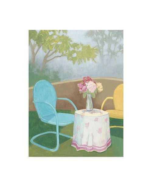 """Trademark Global Megan Meagher Garden Conversation I Canvas Art - 36.5"""" x 48"""""""