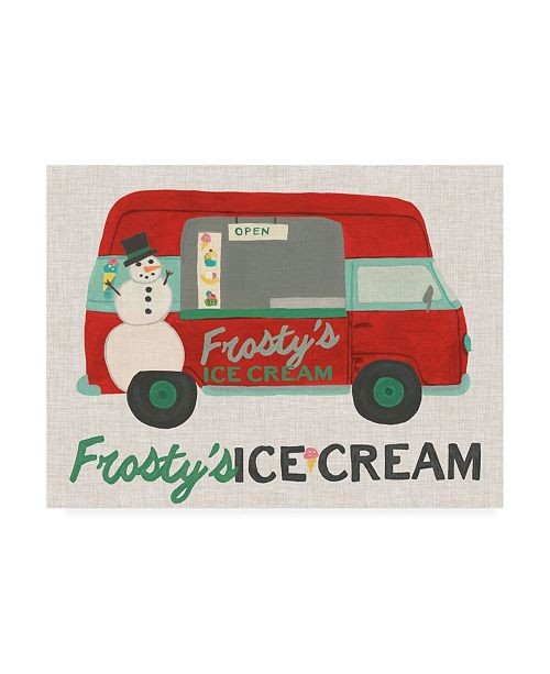 "Trademark Global June Erica Vess Food Truck Holidays IV Canvas Art - 19.5"" x 26"""