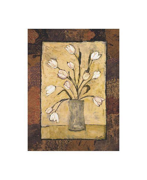 "Trademark Global Judi Bagnato Blooms in Border I Canvas Art - 19.5"" x 26"""