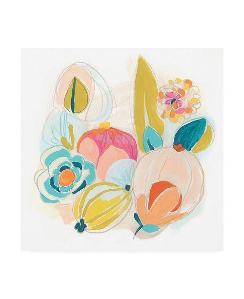 "Trademark Global June Erica Vess Floral Vibe II Canvas Art - 36.5"" x 48"""