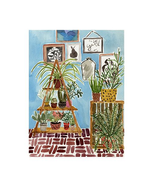 "Trademark Global Melissa Wang Way to the Jungle III Canvas Art - 19.5"" x 26"""
