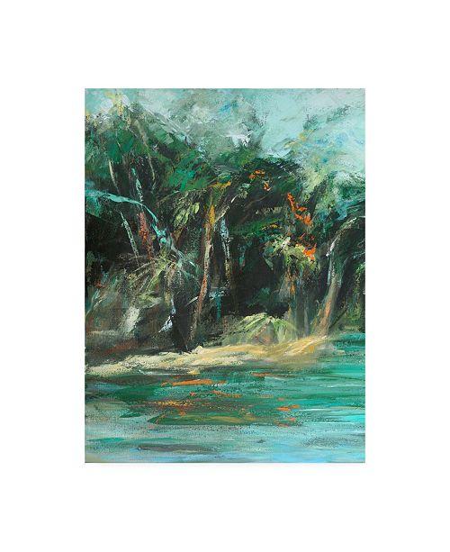 "Trademark Global Suzanne Wilkins Waterway Jungle I Canvas Art - 36.5"" x 48"""