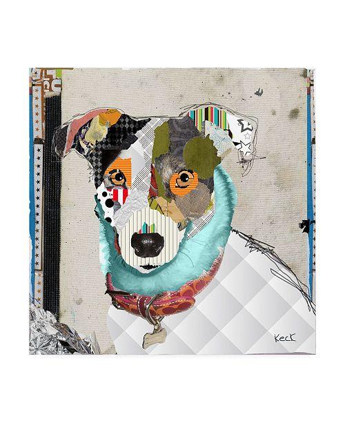 "Trademark Global Michel Keck Jack Rusell Rat Terrier Mix Canvas Art - 36.5"" x 48"""
