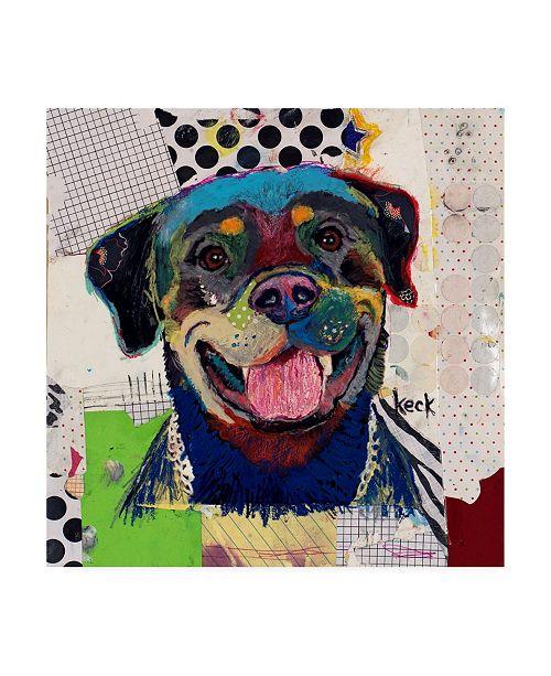 """Trademark Global Michel Keck Rottweiler Abstract Canvas Art - 15.5"""" x 21"""""""