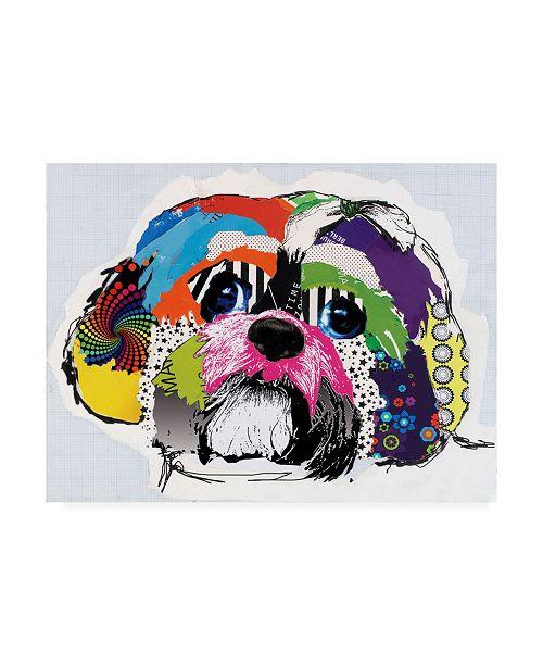 "Trademark Global Michel Keck Shih Tzu Abstract Canvas Art - 36.5"" x 48"""