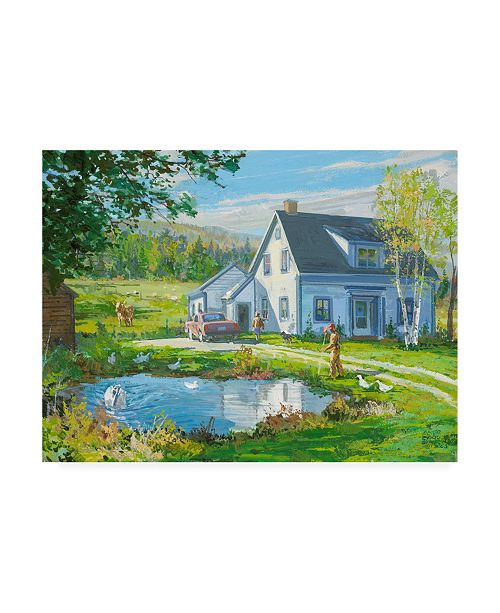 "Trademark Global Peter Snyder Idyllic New Brusnswick Canvas Art - 36.5"" x 48"""