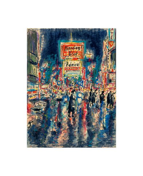 "Trademark Global Peter Potter New York Times Square Canvas Art - 27"" x 33.5"""