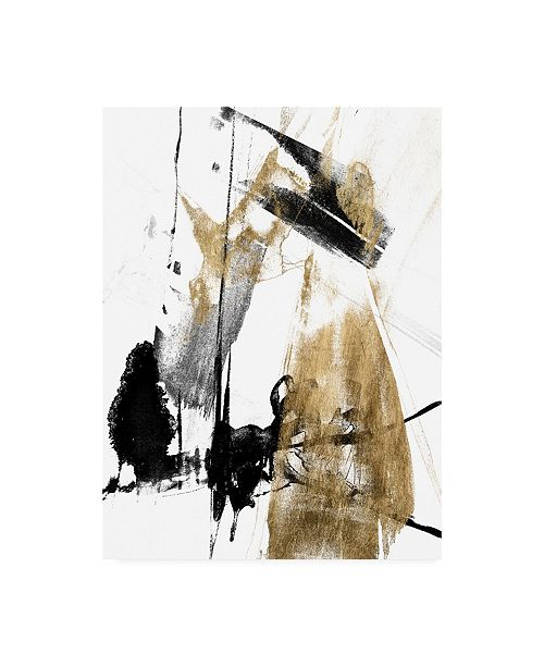 "Trademark Global Jennifer Goldberger Glam and Black II Canvas Art - 36.5"" x 48"""