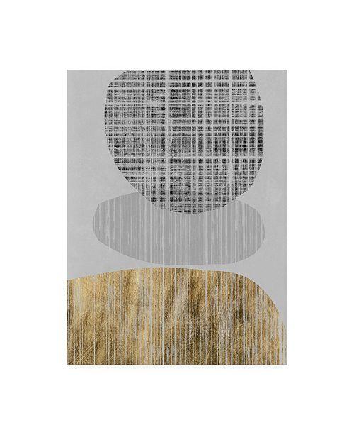 "Trademark Global Jennifer Goldberger Gilded Shapes II Canvas Art - 19.5"" x 26"""