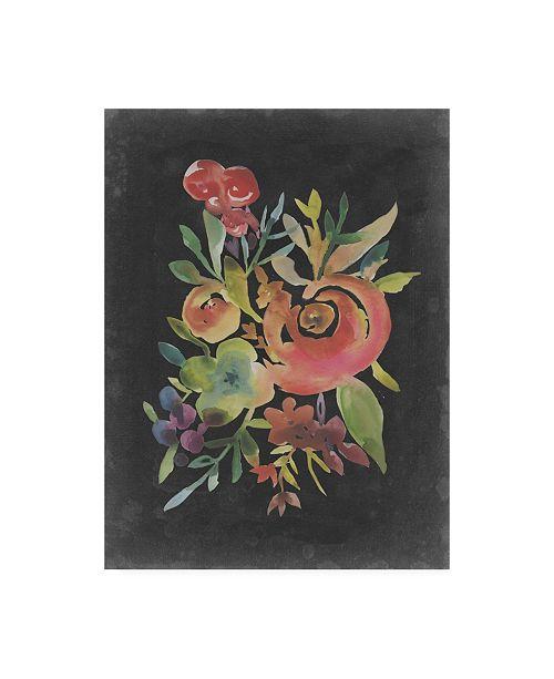 """Trademark Global Chariklia Zarris Velvet Floral I Canvas Art - 36.5"""" x 48"""""""