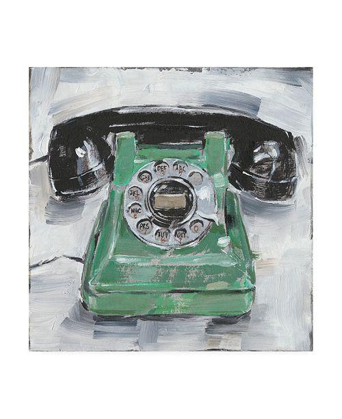 "Trademark Global Ethan Harper Retro Phone III Canvas Art - 15.5"" x 21"""