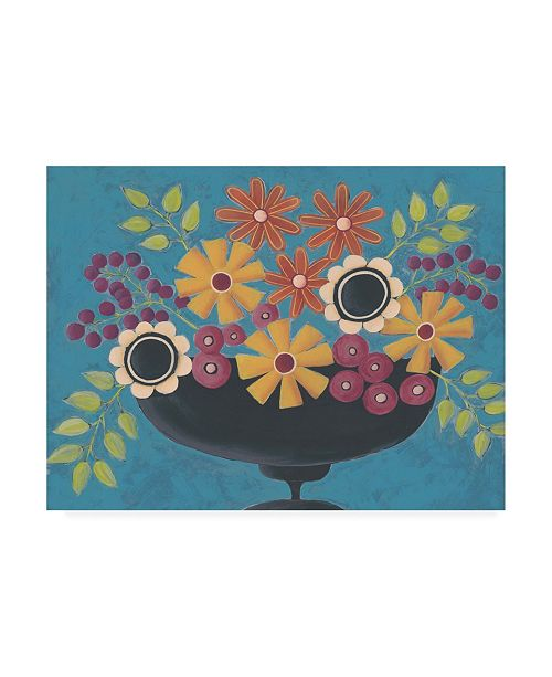 "Trademark Global Regina Moore Flowers Galore II Canvas Art - 15.5"" x 21"""