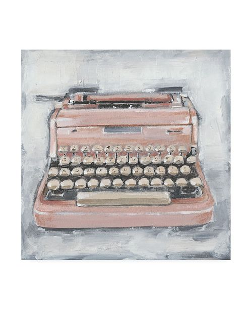 "Trademark Global Ethan Harper Vintage Typewriter IV Canvas Art - 36.5"" x 48"""