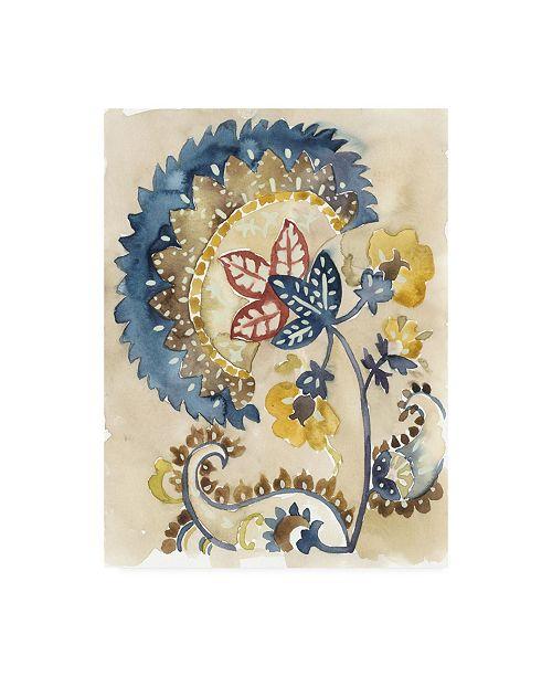 "Trademark Global Chariklia Zarris Paisley Path II Canvas Art - 19.5"" x 26"""