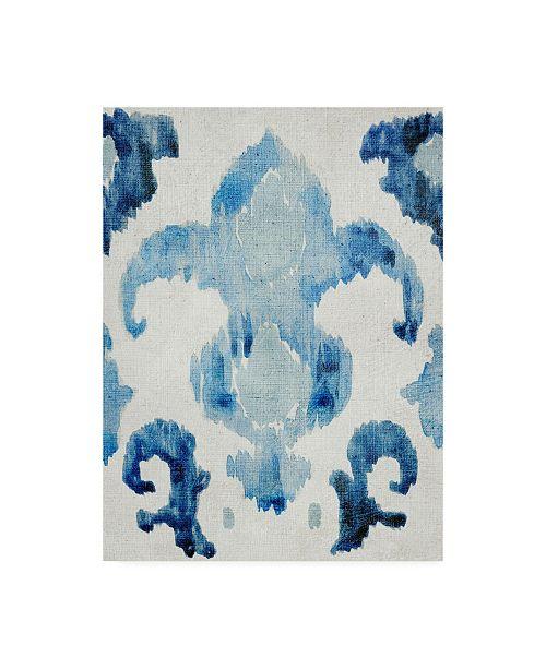 "Trademark Global Chariklia Zarris Sapphire Ikat II Canvas Art - 19.5"" x 26"""