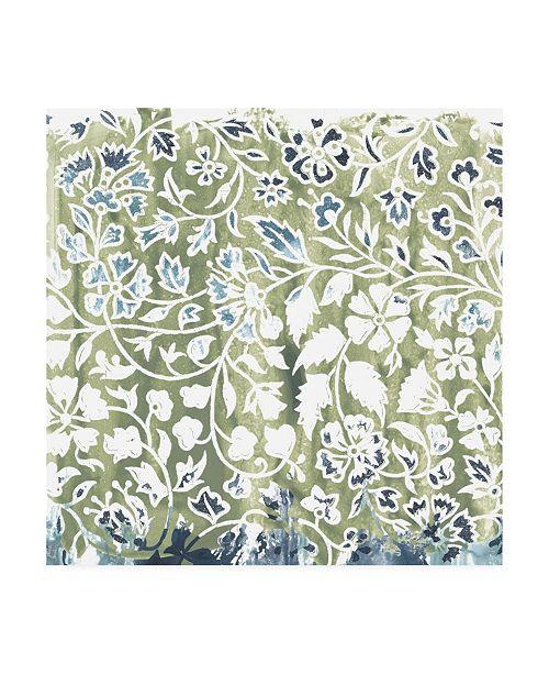 """Trademark Global June Erica Vess Flower Stone Tile I Canvas Art - 15.5"""" x 21"""""""