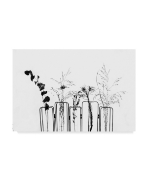 1X Prints Black Flowers on White Background Canvas Art - 37