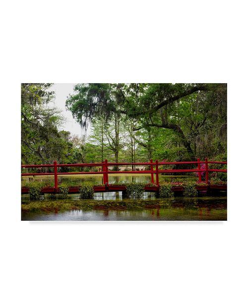 "Trademark Global Danny Head The Red Bridge Canvas Art - 15"" x 20"""