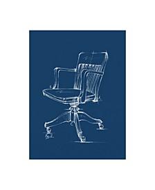 """Ethan Harper Office Chair Blueprint II Canvas Art - 15"""" x 20"""""""