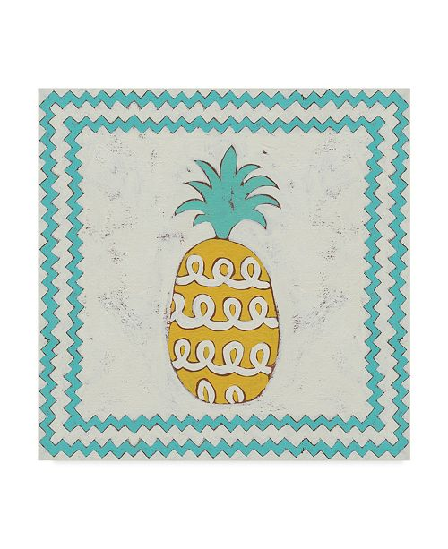 "Trademark Global Chariklia Zarris Pineapple Vacation IV Canvas Art - 20"" x 25"""
