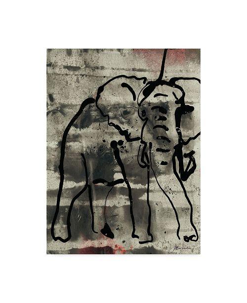"Trademark Global Joyce Combs Abstract Elephant I Canvas Art - 15"" x 20"""
