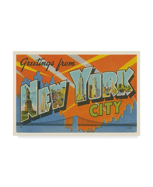 "Trademark Global Wild Apple Portfolio Greetings from New York Canvas Art - 20"" x 25"""