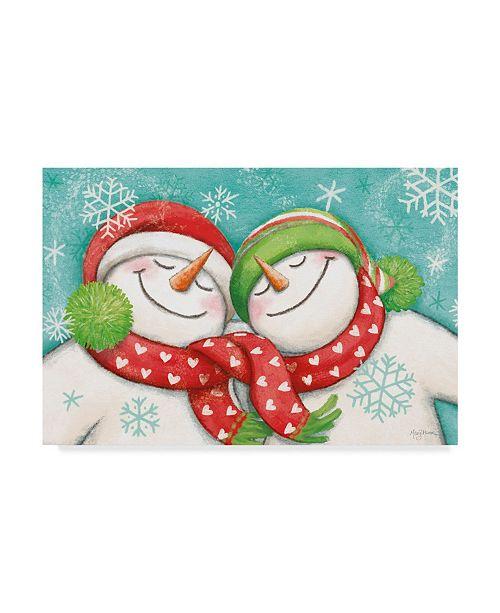 "Trademark Global Mary Urban Let it Snow Man II Canvas Art - 15"" x 20"""