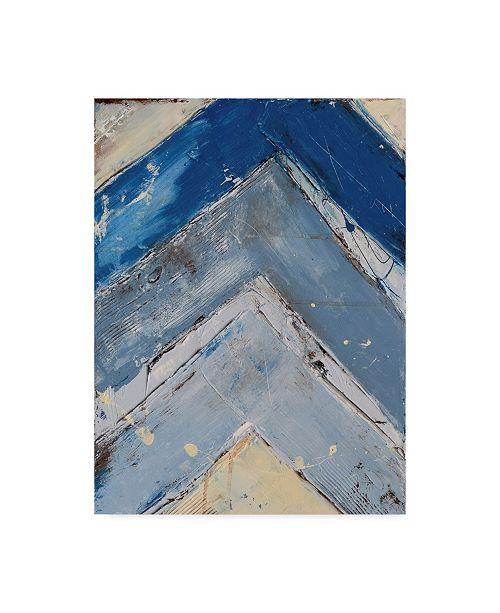 "Trademark Global Erin Ashley Blue Zag I Canvas Art - 20"" x 25"""