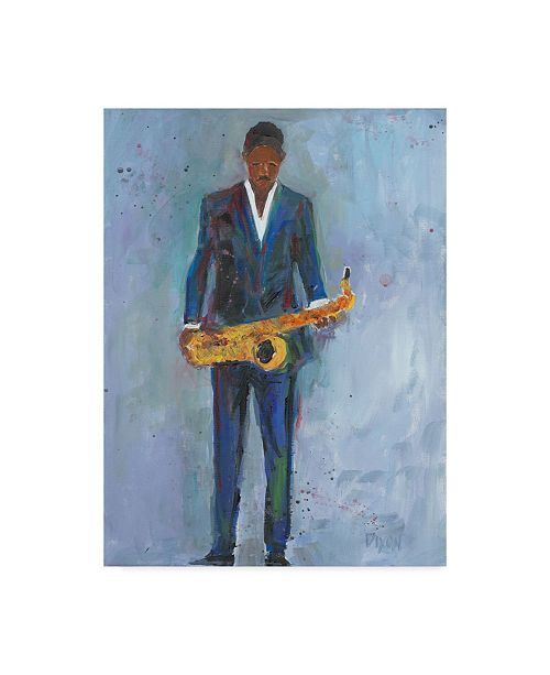 "Trademark Global Samuel Dixon Sax in a Blue Suit Canvas Art - 20"" x 25"""