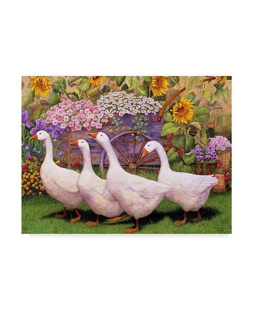 "Trademark Global Marcia Matcham Garden March III Canvas Art - 20"" x 25"""