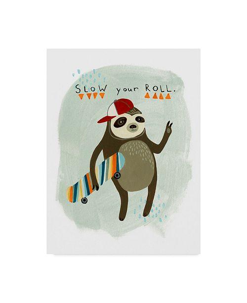 "Trademark Global June Erica Vess Hipster Sloth I Canvas Art - 15"" x 20"""