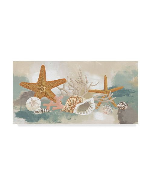 "Trademark Global June Erica Vess Marine Tableau I Canvas Art - 15"" x 20"""