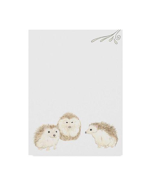 "Trademark Global June Erica Vess Baby Animals IV Canvas Art - 15"" x 20"""