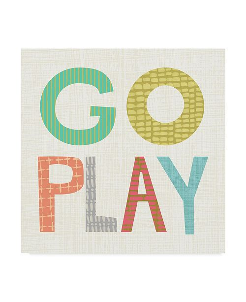 "Trademark Global Chariklia Zarris Kid Play III Canvas Art - 20"" x 25"""