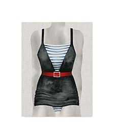 """Grace Popp Vintage Bathing Suit IV Canvas Art - 20"""" x 25"""""""