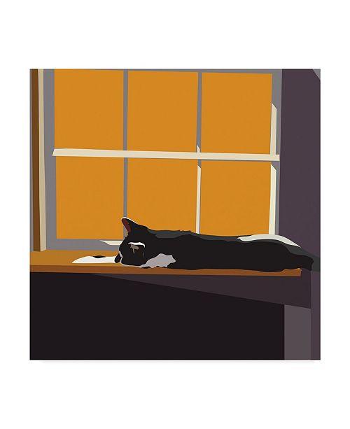 "Trademark Global Emily Kalina Cat on a Window Sill II Canvas Art - 15"" x 20"""