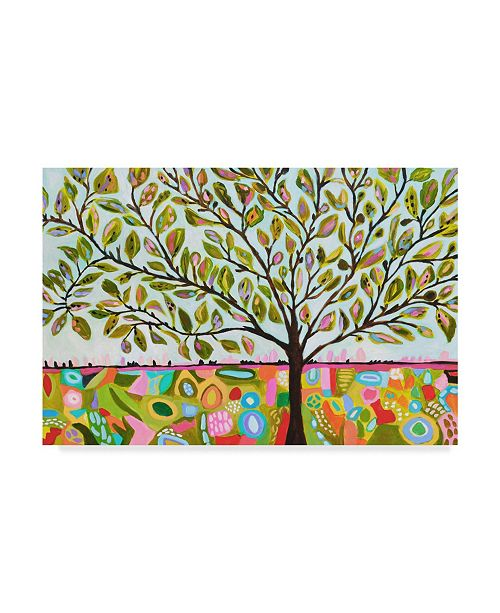 "Trademark Global Karen Fields Tree Abstract Canvas Art - 15"" x 20"""