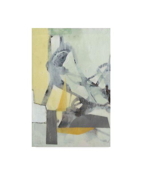 """Trademark Global Jennifer Goldberger Ribbon in Wax I Canvas Art - 15"""" x 20"""""""