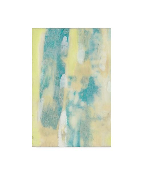 "Trademark Global Jennifer Goldberger Turquoise Transparency I Canvas Art - 15"" x 20"""