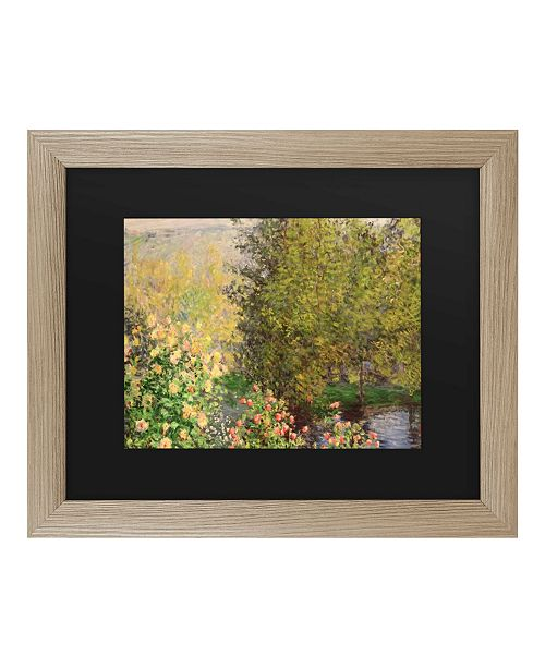 "Trademark Global Claude Monet Corner of the Garden at Montgeron, 1876 Matted Framed Art - 27"" x 33"""