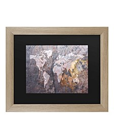 """Michael Tompsett World Map - Rock Matted Framed Art - 27"""" x 33"""""""