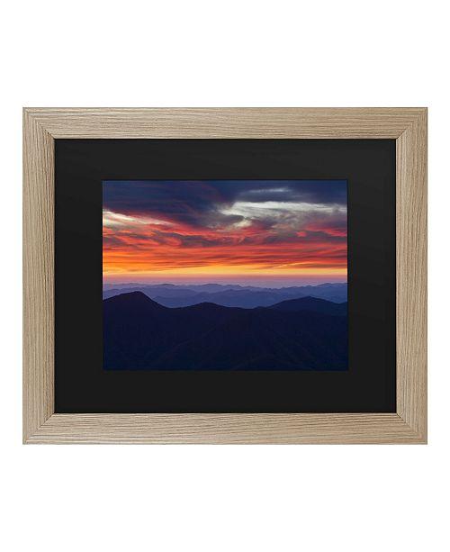 """Trademark Global Pierre Leclerc Mount Mitchell Sunset Matted Framed Art - 27"""" x 33"""""""
