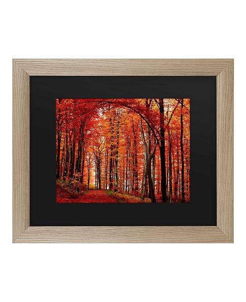 "Trademark Global Philippe Sainte-Laudy The Red Way Matted Framed Art - 27"" x 33"""