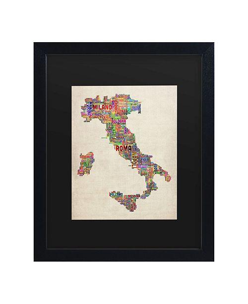 """Trademark Global Michael Tompsett Italy II Matted Framed Art - 15"""" x 20"""""""