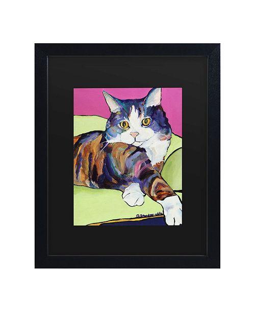 "Trademark Global Pat Saunders-White Ursula Matted Framed Art - 15"" x 20"""